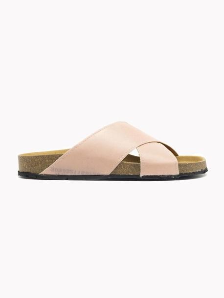 Vegan Sandals // Nae Vegan - Re-Car Pink Flat Sandal