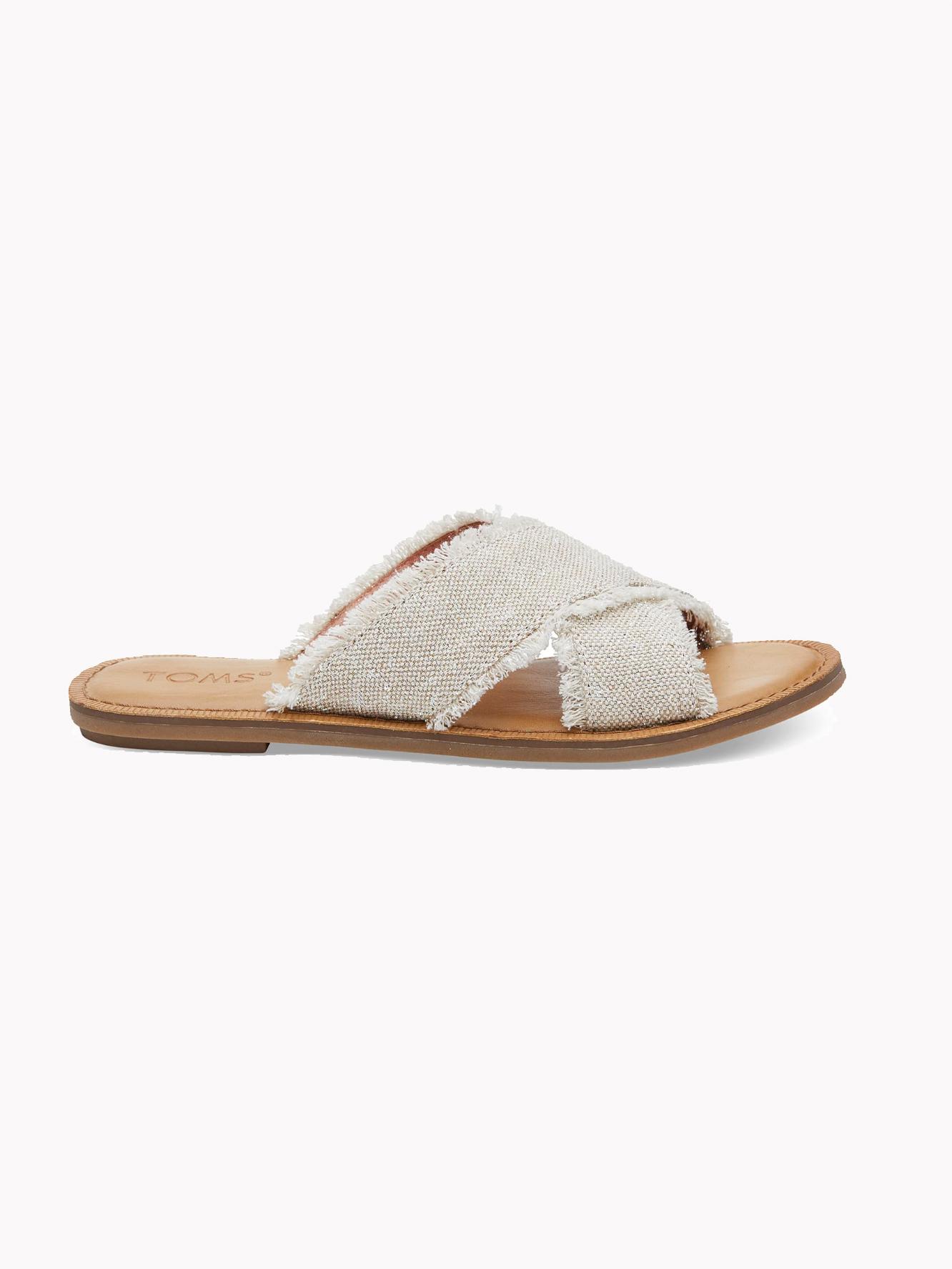 Vegan Sandals // Toms - Metallic Women's Viv Sandals
