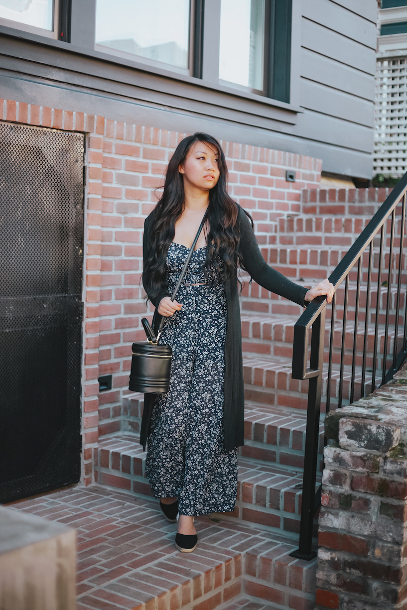 Reformation Floral Jumpsuit // Week Of Outfits With Diana Youn On The Good Trade