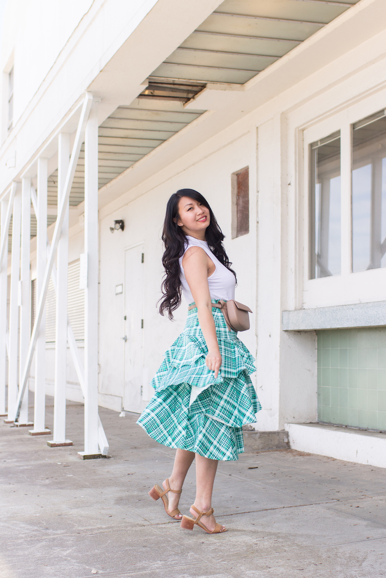 Day-To-Night Amur Skirt // Week Of Outfits With Diana Youn On The Good Trade
