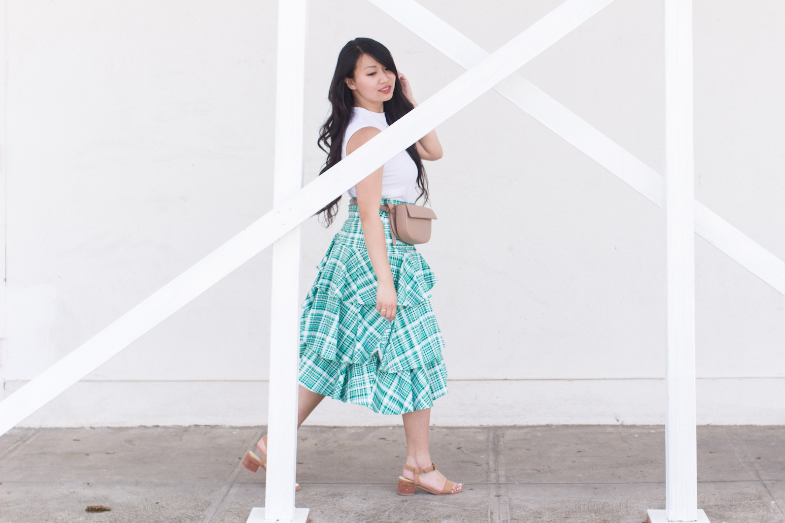 Amur Skirt Nisolo Block Heel // Week Of Outfits With Diana Youn On The Good Trade