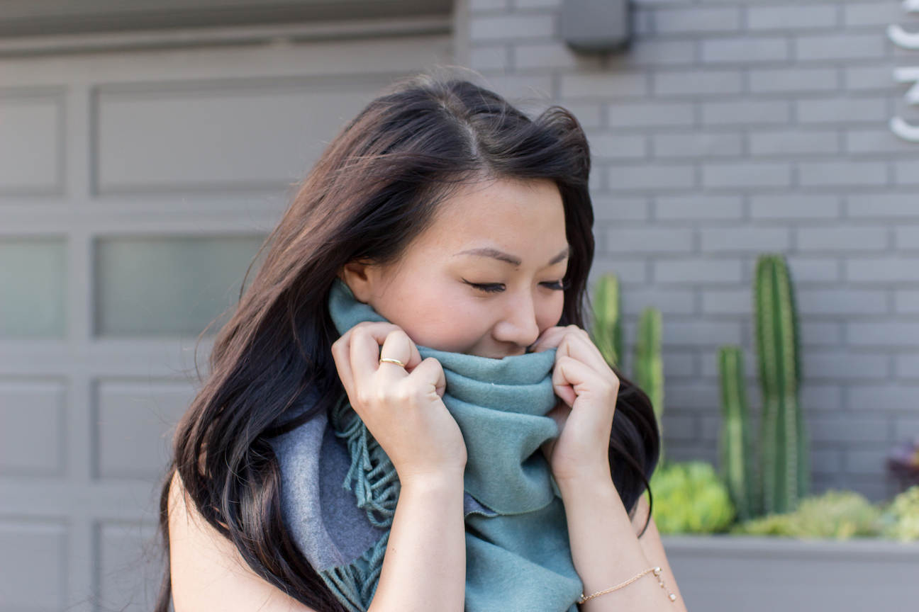Les Lunes Teal Scarf // Week Of Outfits With Diana Youn On The Good Trade