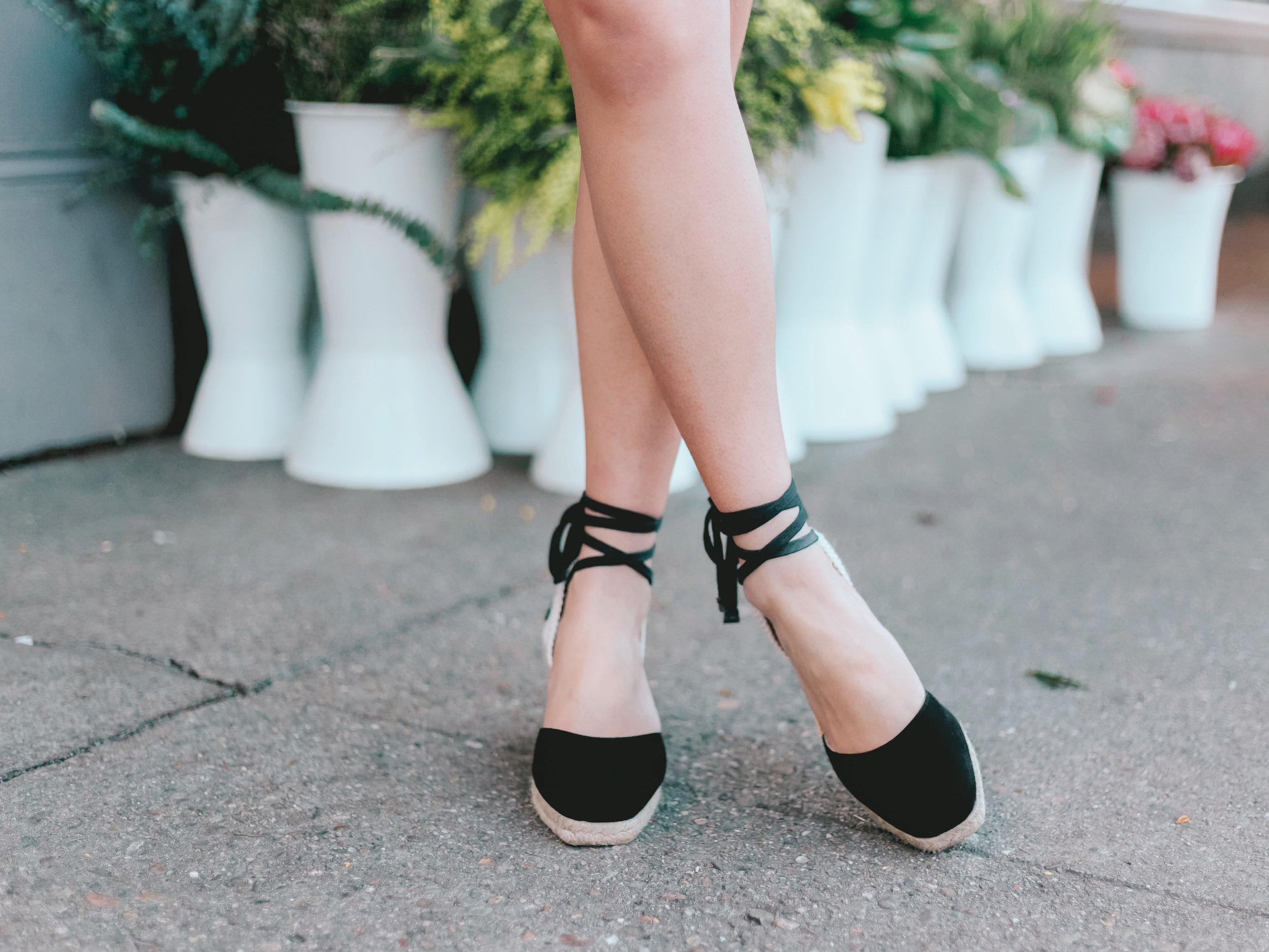 Reformation Wedge Espadrilles // Week Of Outfits With Diana Youn On The Good Trade