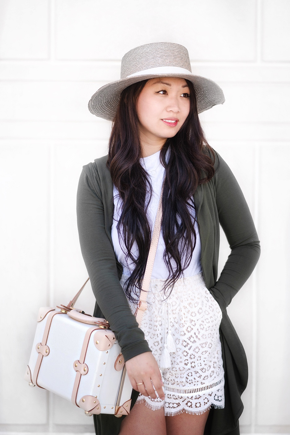 White Olive Palette Bolero Hat Outfit // Week Of Outfits With Diana Youn On The Good Trade