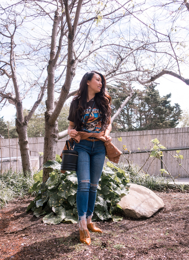 Casual Rocker Boyfriend Tee // Week Of Outfits With Diana Youn On The Good Trade