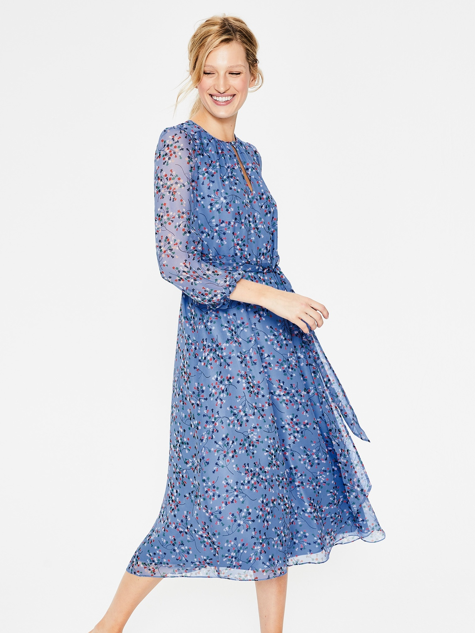 Victorian-Inspired Ethical Fashion | Kyra Silk Dress - Boden
