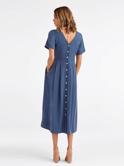 Victorian-Inspired Ethical Fashion | The Button Up Midi Dress - Vetta