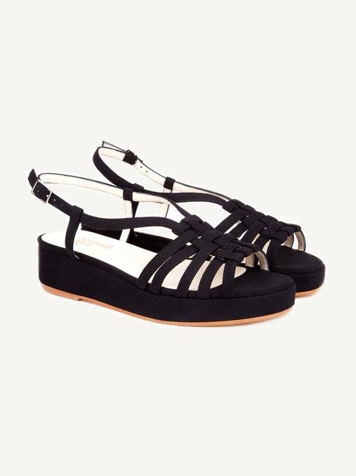 Vegan Sandals // Beyond Skin - Caitlin Black Flatform