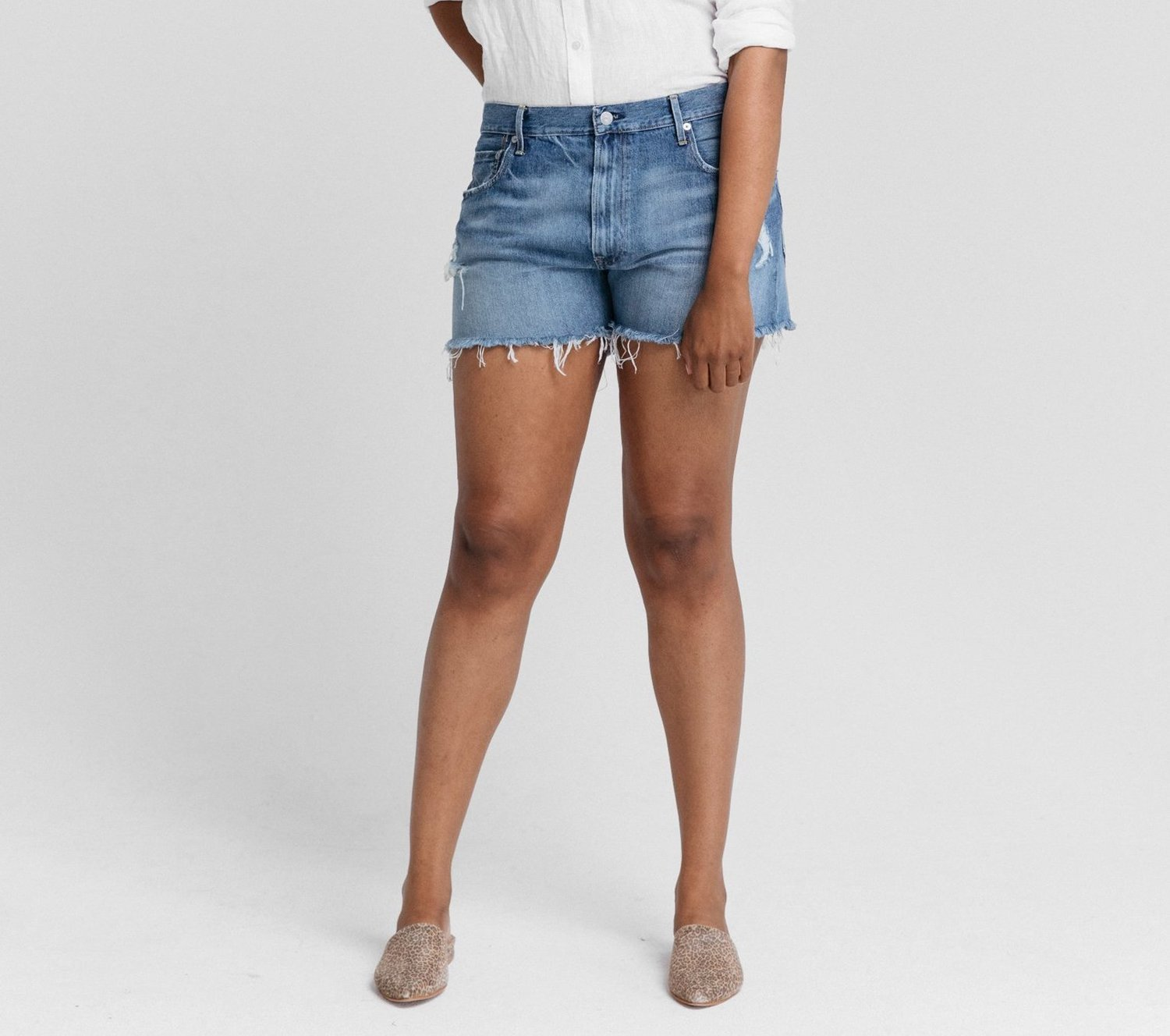 Sustainable Clothes French Shorts High Rise Shorts Linen Shorts Women High Waisted Shorts