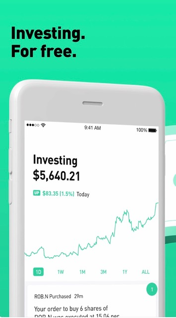Financial And Investment Money Apps // Robinhood