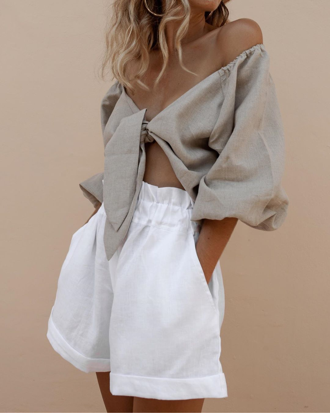 Sustainable Linen Shorts - Posse