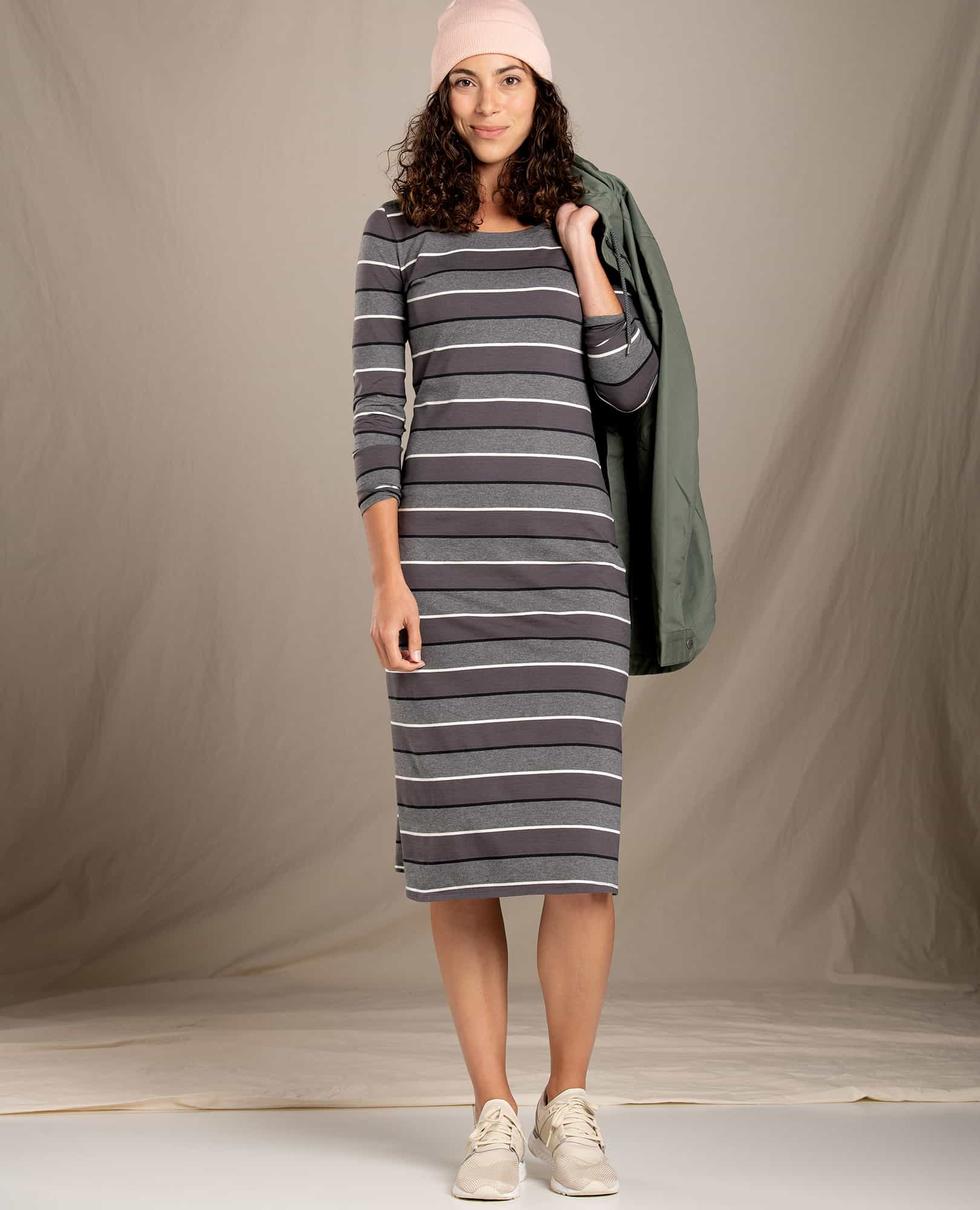 Natural Self Care Products - Toad & Co Montclair Midi Dress in Cotton and Tencel