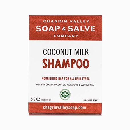 All-Natural, Organic Shampoo Bars - Chagrin Valley Coconut Milk Shampoo Bar