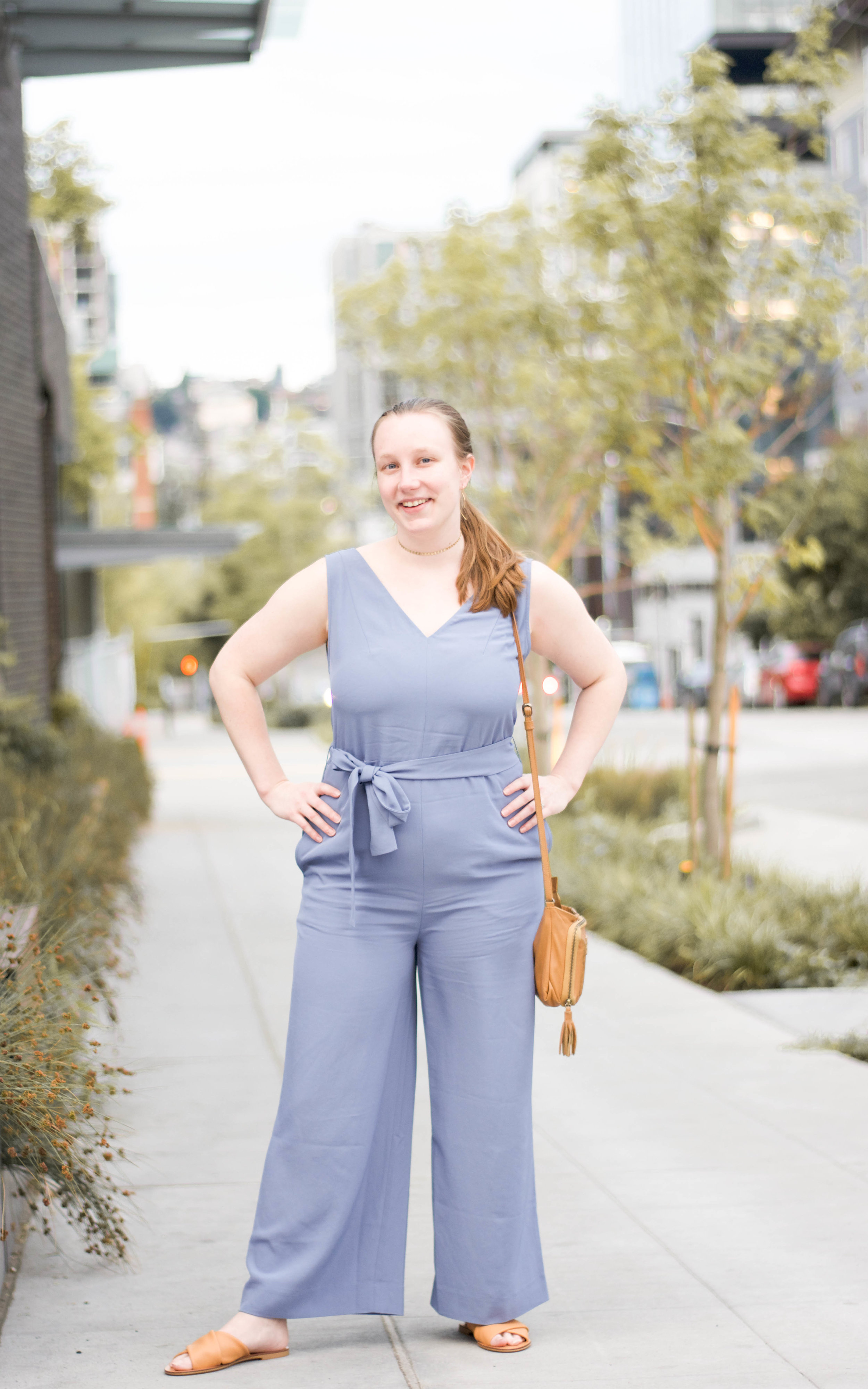 Everlane jumpsuit // A Week Of Values-Driven Outfits With Emily Waddell From The Honest Consumer on The Good Trade