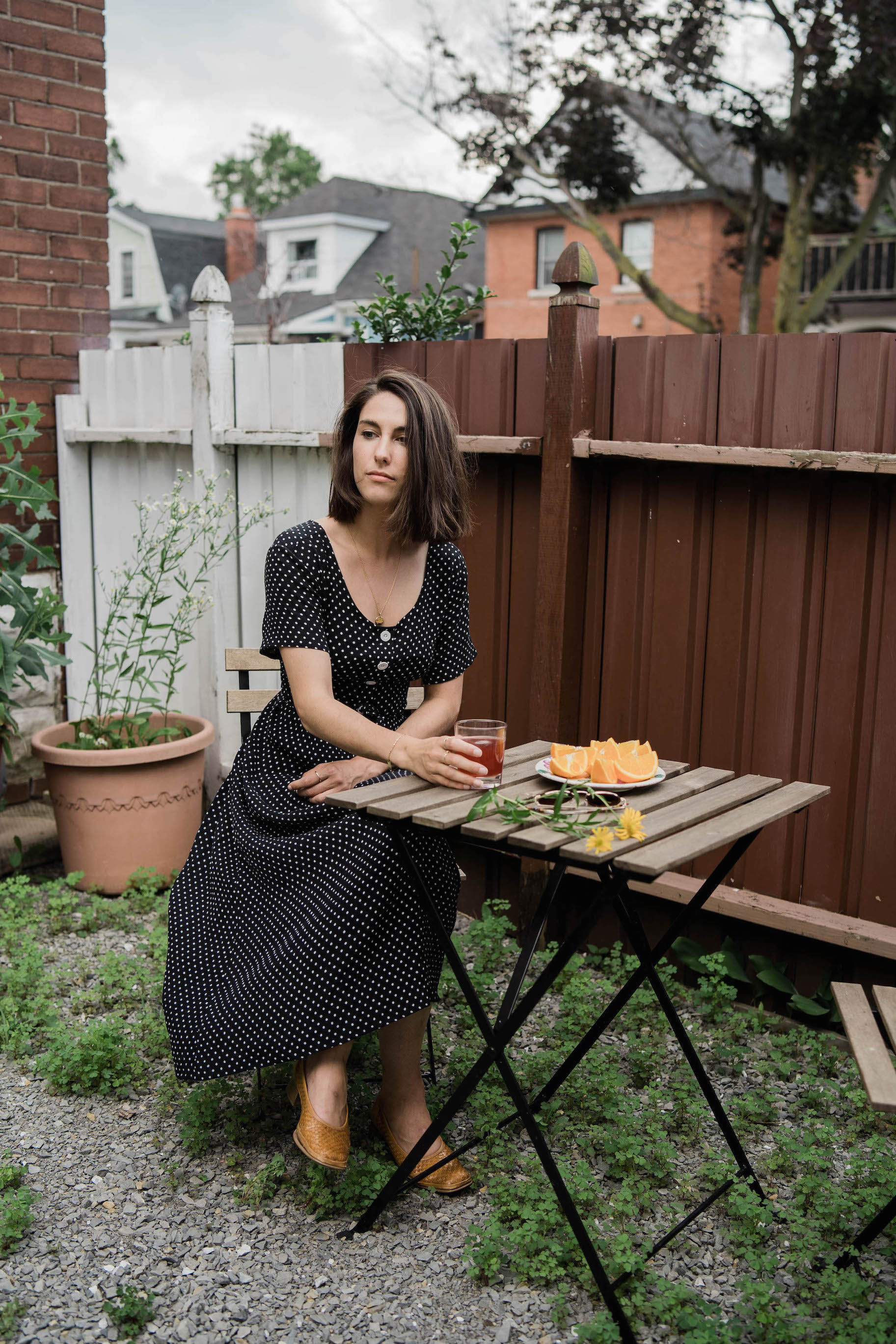 Vintage polka dot dress // A Week Of Easygoing & Classic Outfits With Sara Brown From Petra Alexandra on The Good Trade