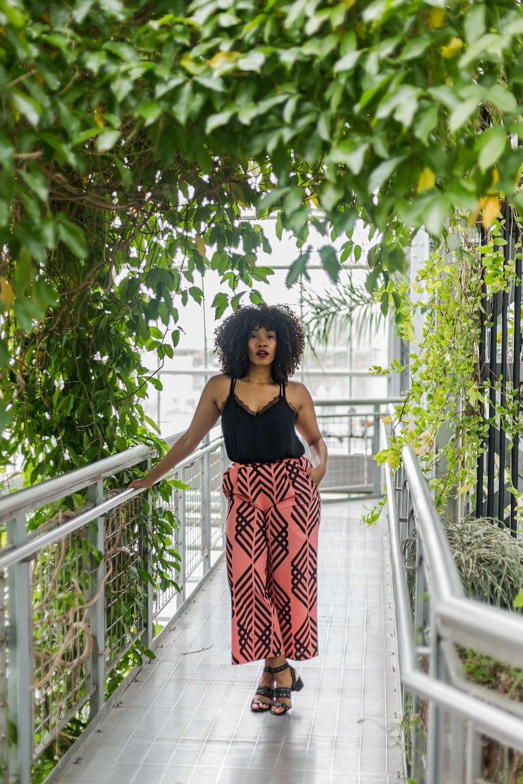 Black cami outfit idea // A Week Of Chic On-The-Go Outfits With Sustainable Fashion Blogger Lindsey Brown on The Good Trade