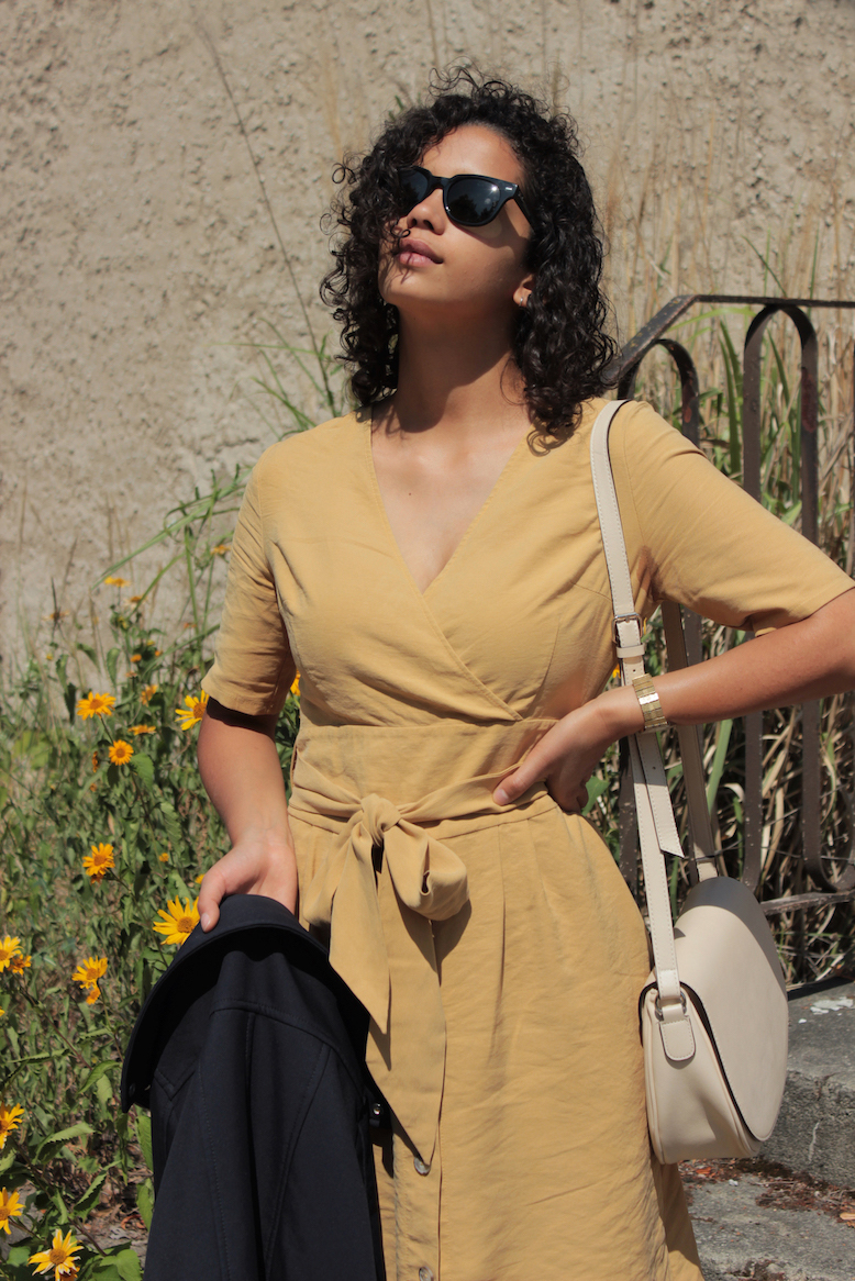 Yellow dress // A Week Of Cute & Corporate-Friendly Outfits With Phoebe Nicette From Phoenomenal on The Good Trade