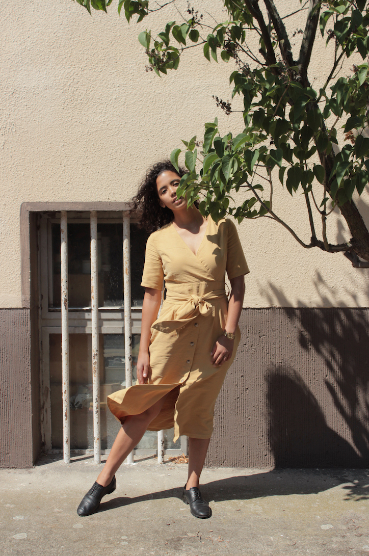 Yellow Wrap Dress // A Week Of Cute & Corporate-Friendly Outfits With Phoebe Nicette From Phoenomenal on The Good Trade