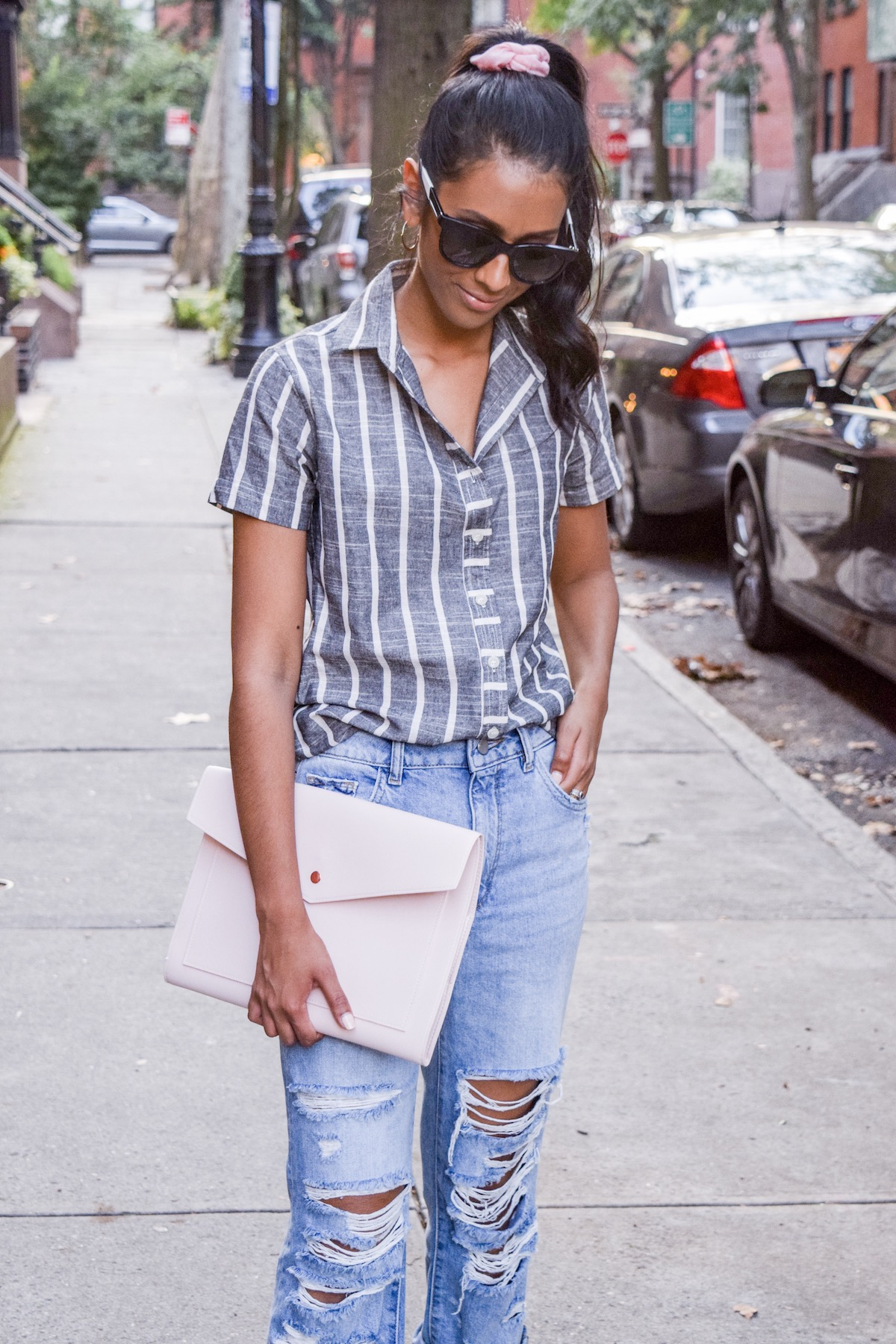 Distressed denim outfit // A Week Of Conscious Trend-Forward Outfits With Sabrina Ramkhelawan From Flaunt Your Fancy on The Good Trade