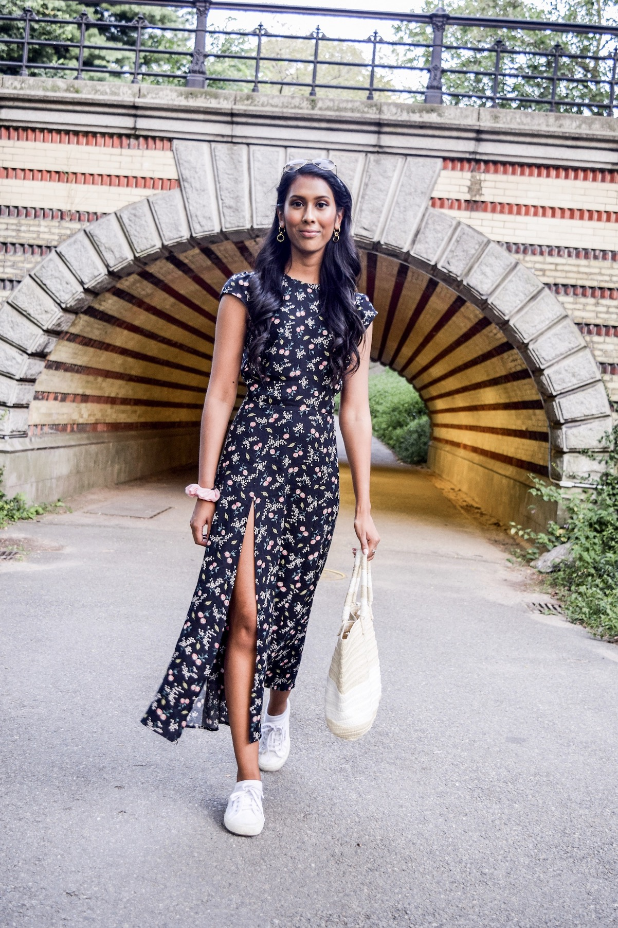 Reformation floral dress // A Week Of Conscious Trend-Forward Outfits With Sabrina Ramkhelawan From Flaunt Your Fancy on The Good Trade