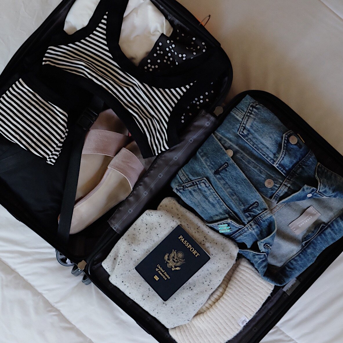 Packing for a weekend away // A Week Of Minimalist Travel Outfits With Ellie Hughes From Selflessly Styled on The Good Trade