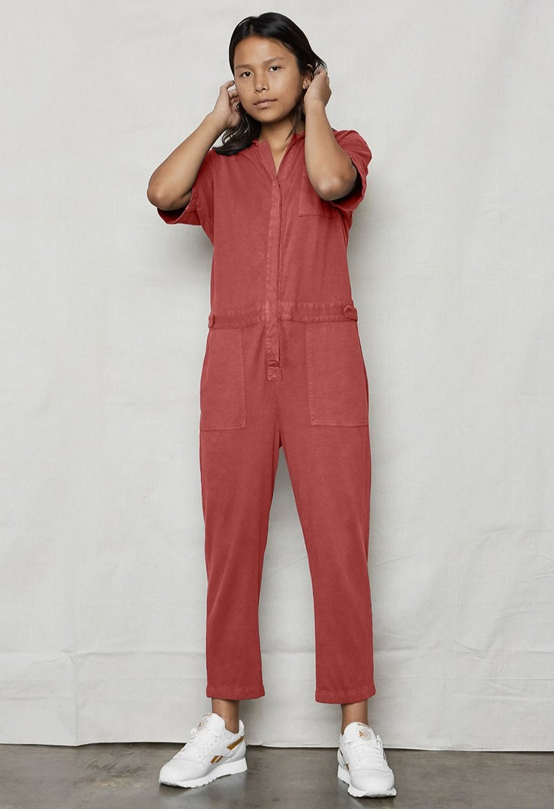 Back Beat Co Hemp Boiler Suit In Sienna