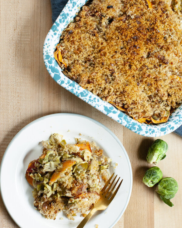 Sweet-Potato-Brussels-Sprouts-Gratin