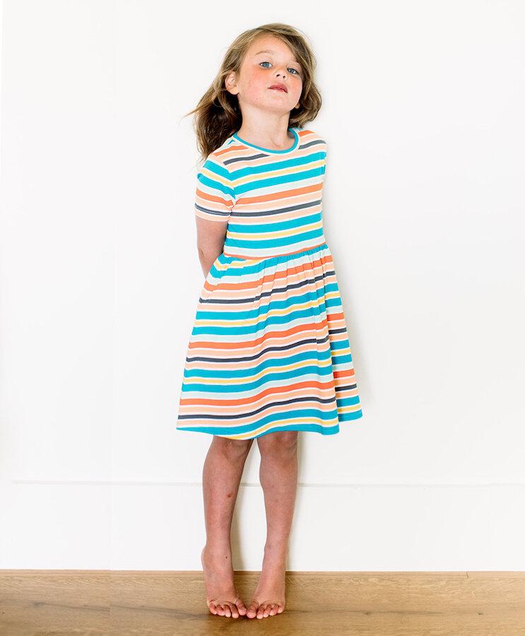 childs print cotton long dress size 8-10