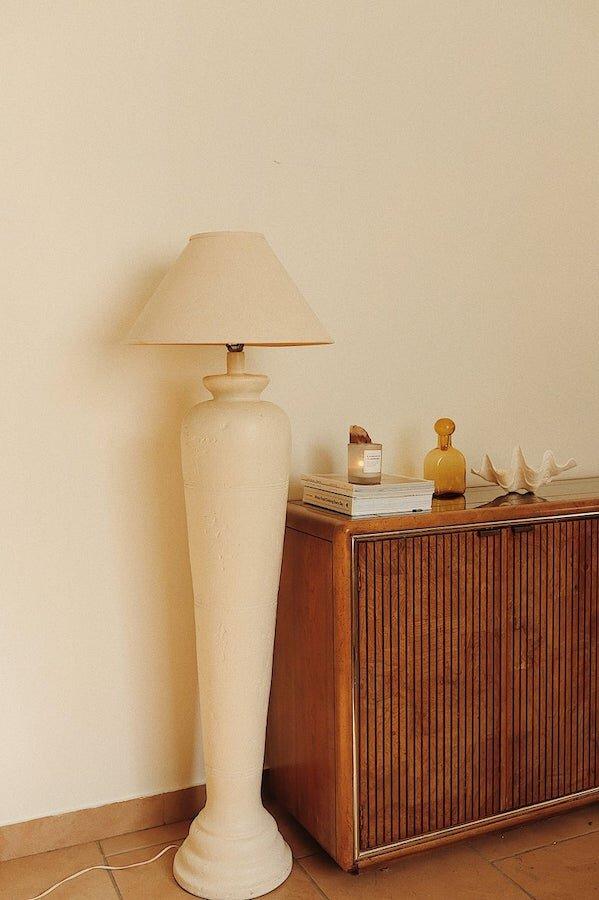 Vintage Plaster Lamp - Etsy