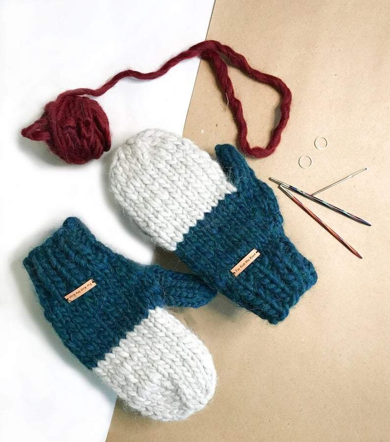 Custom Made Wool Sweater Mittens