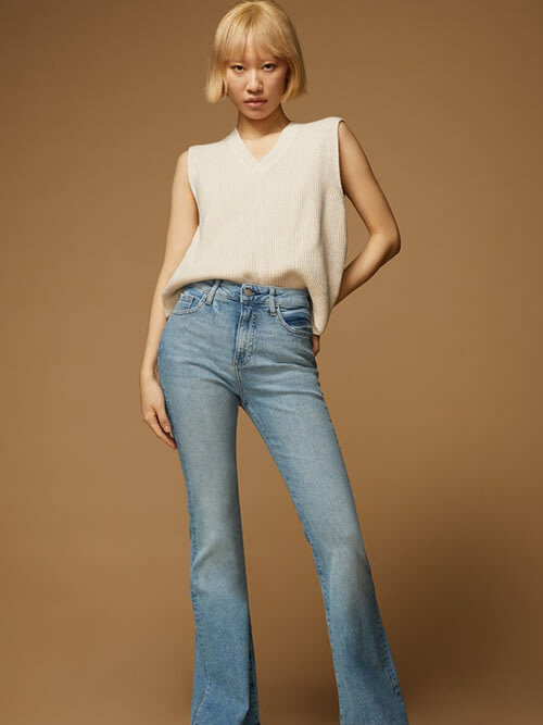 Warp + Weft Mia High Rise Flare Jeans
