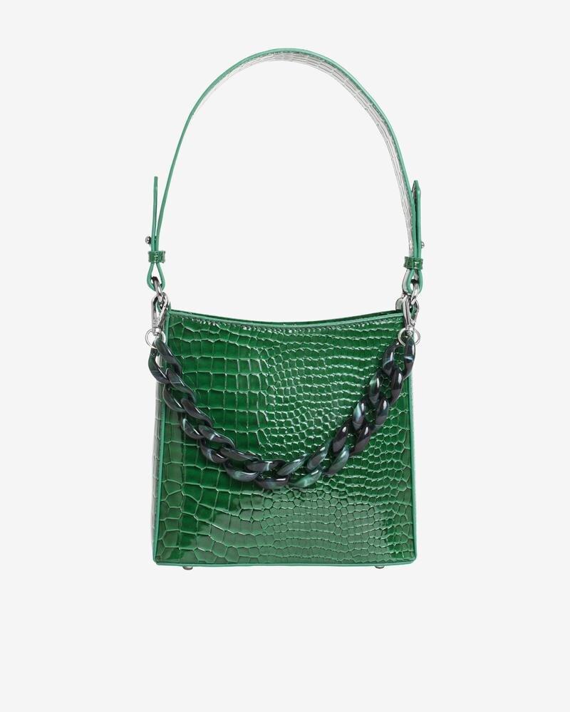 HVISK Amble Croco Small Geen Bag