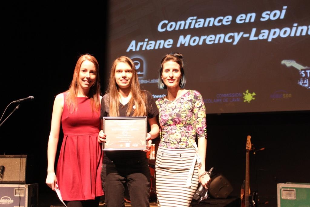 Catégorie J'ai des choses à dire: Arianne Morency-Lapointe auteure du texte Confiance en soi