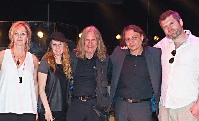 De gauche à droite: Roxane Del, France D'Amour, Chris Isaac (Sennheiser), Christophe Danetz et Ian Kelly