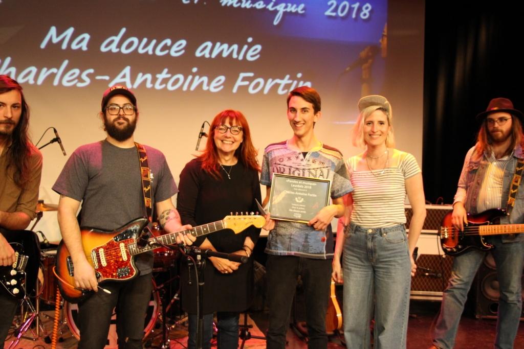 Catégorie Mérite:Charles-Antoine Fortin, auteur du texte Ma douce amie