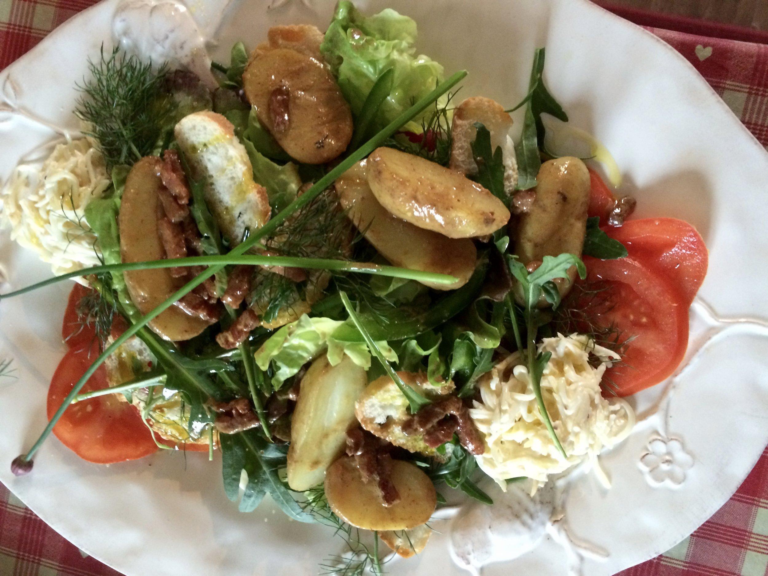Freshly made salad platter