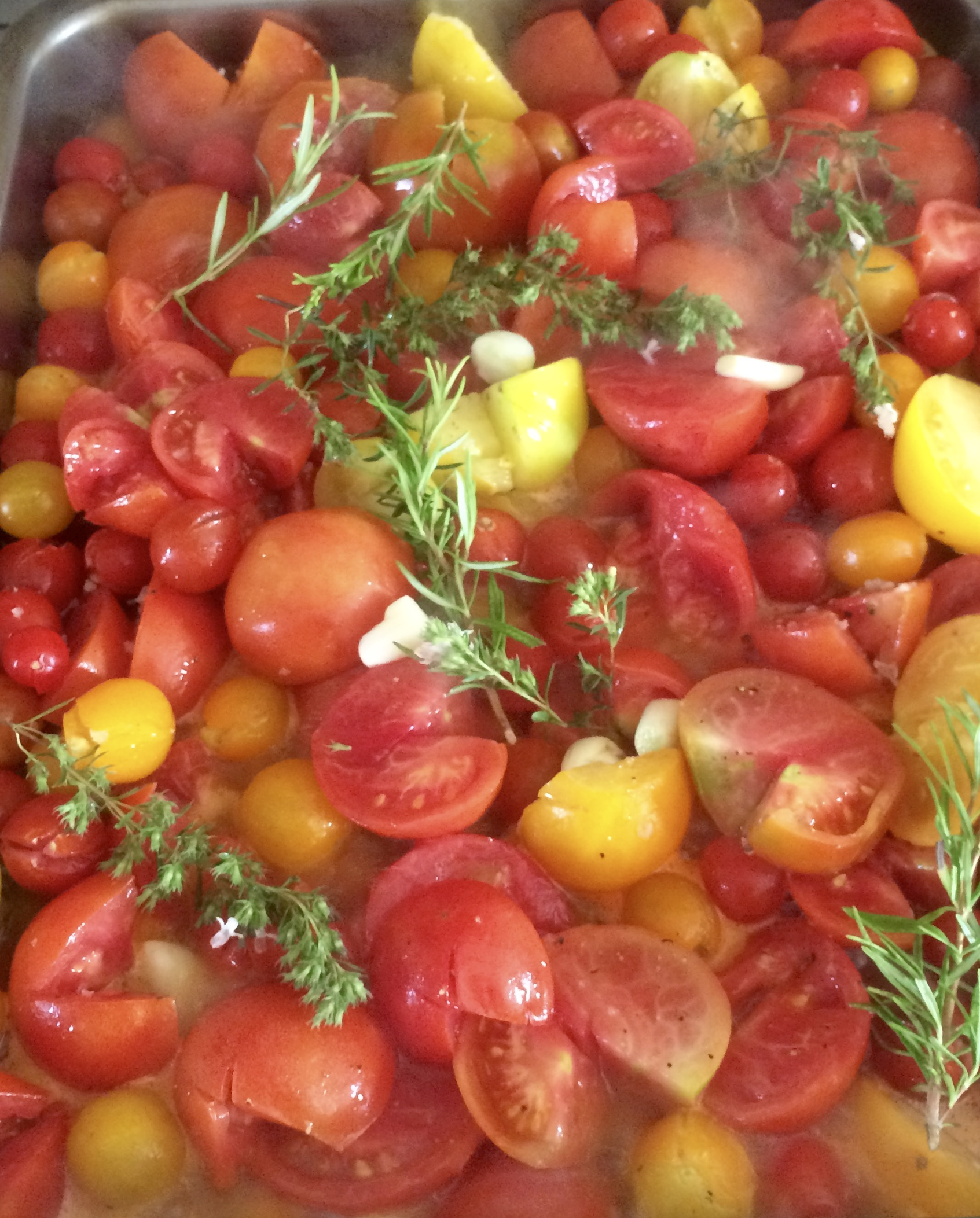 Heaps of tomatoes from the garden