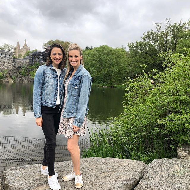 Liesl and Maria FOREVA!  Love having my best girl in town and of course we show up in matching outfits! Never ever letting her leave NYC!!👭 @alexandranicoleh @stratfest