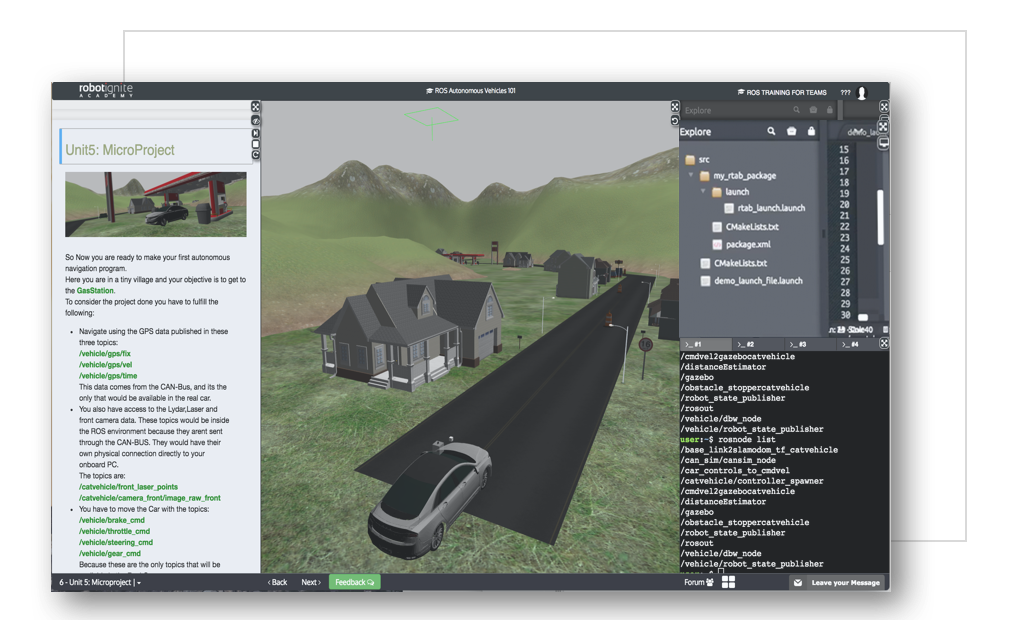 Self Self Driving Course from  The Construct Sim