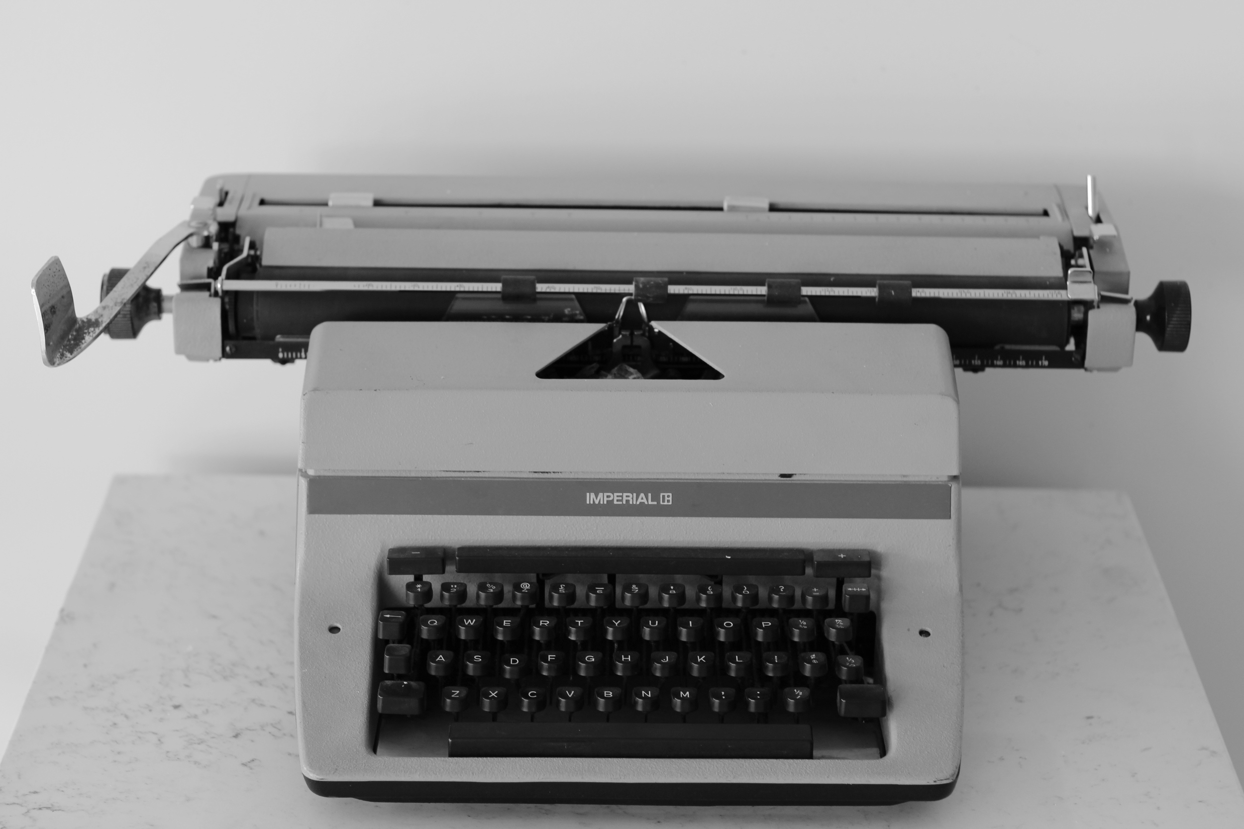 Our first typewriter on display in our office