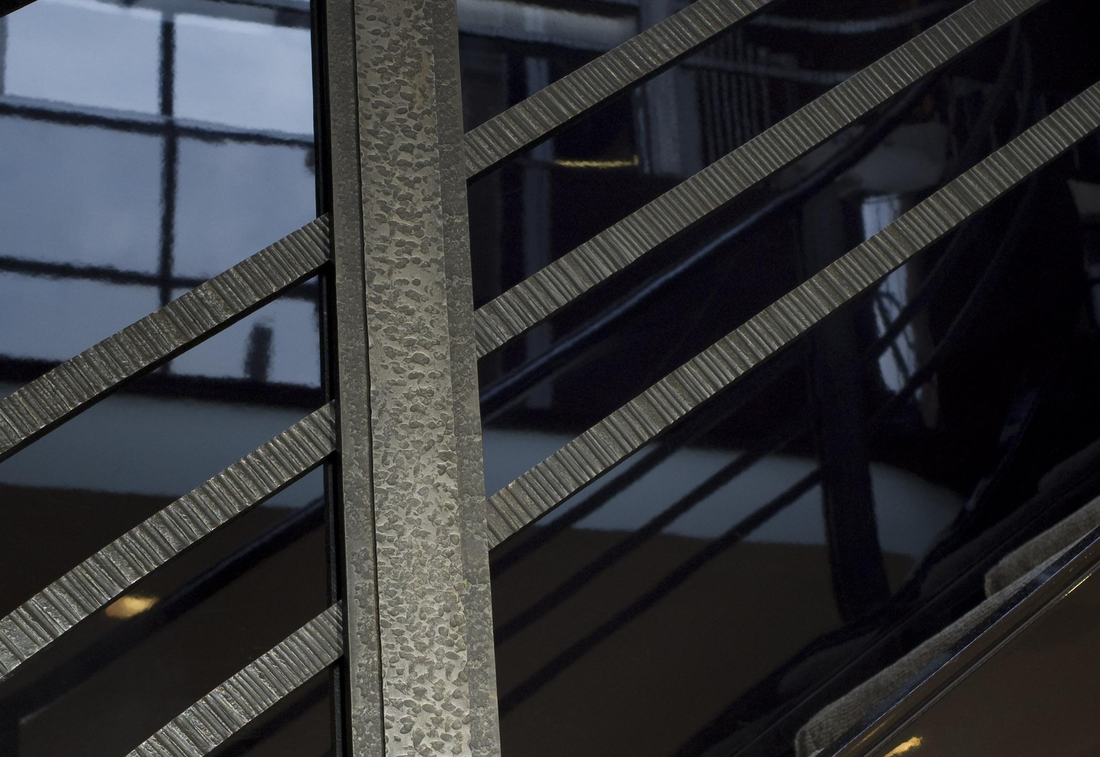 Wrought iron railing fabricated by LMC