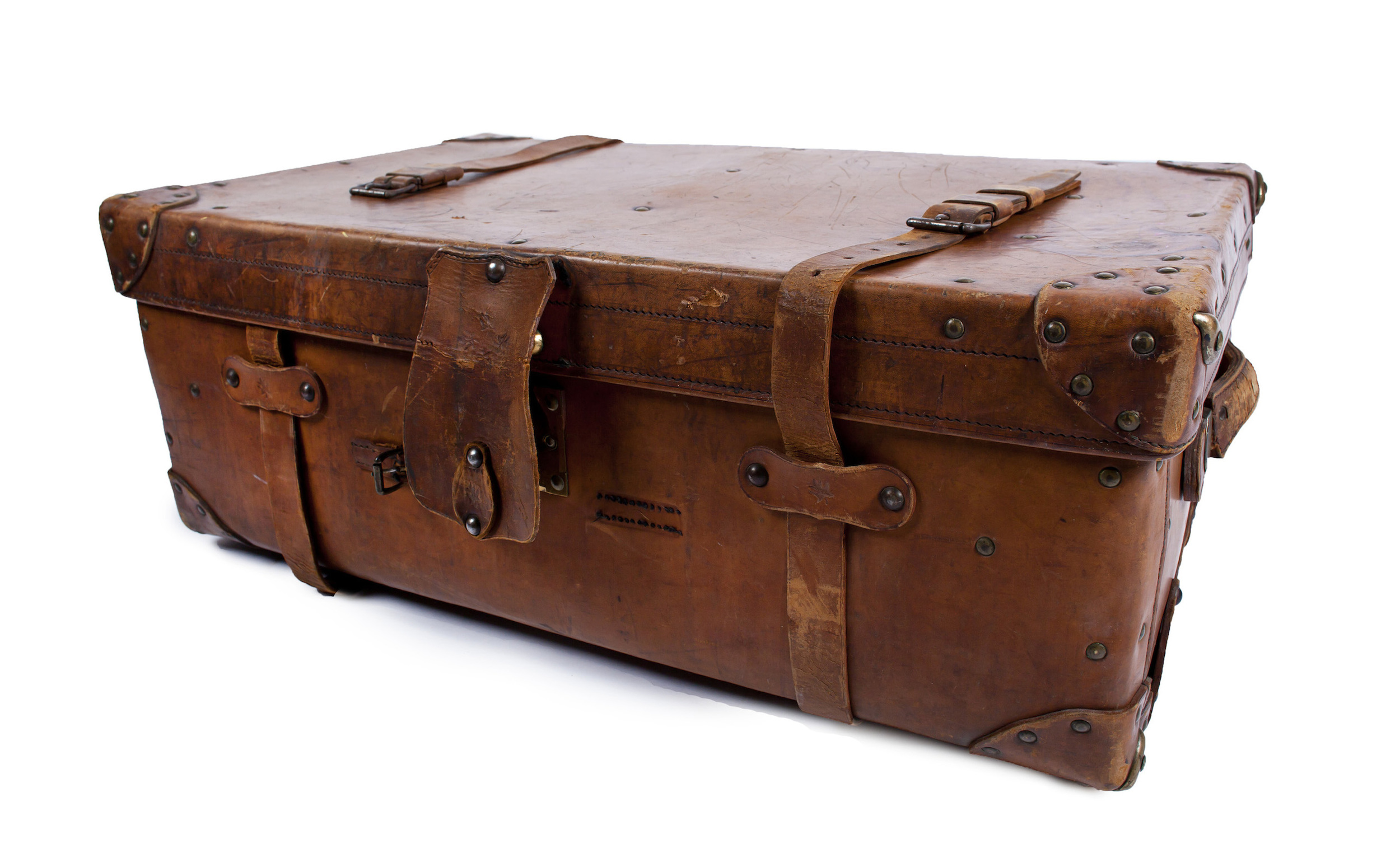 Antique Leather- Large Suitcase