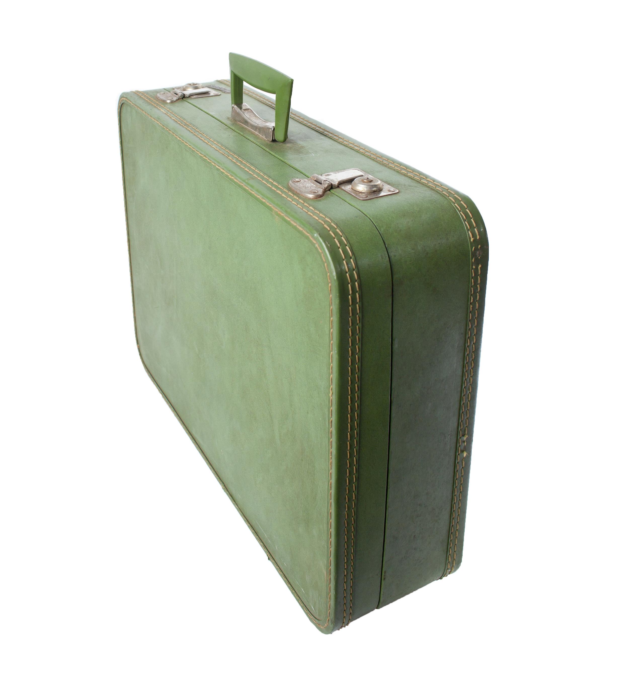 Vintage - Green Suitcase