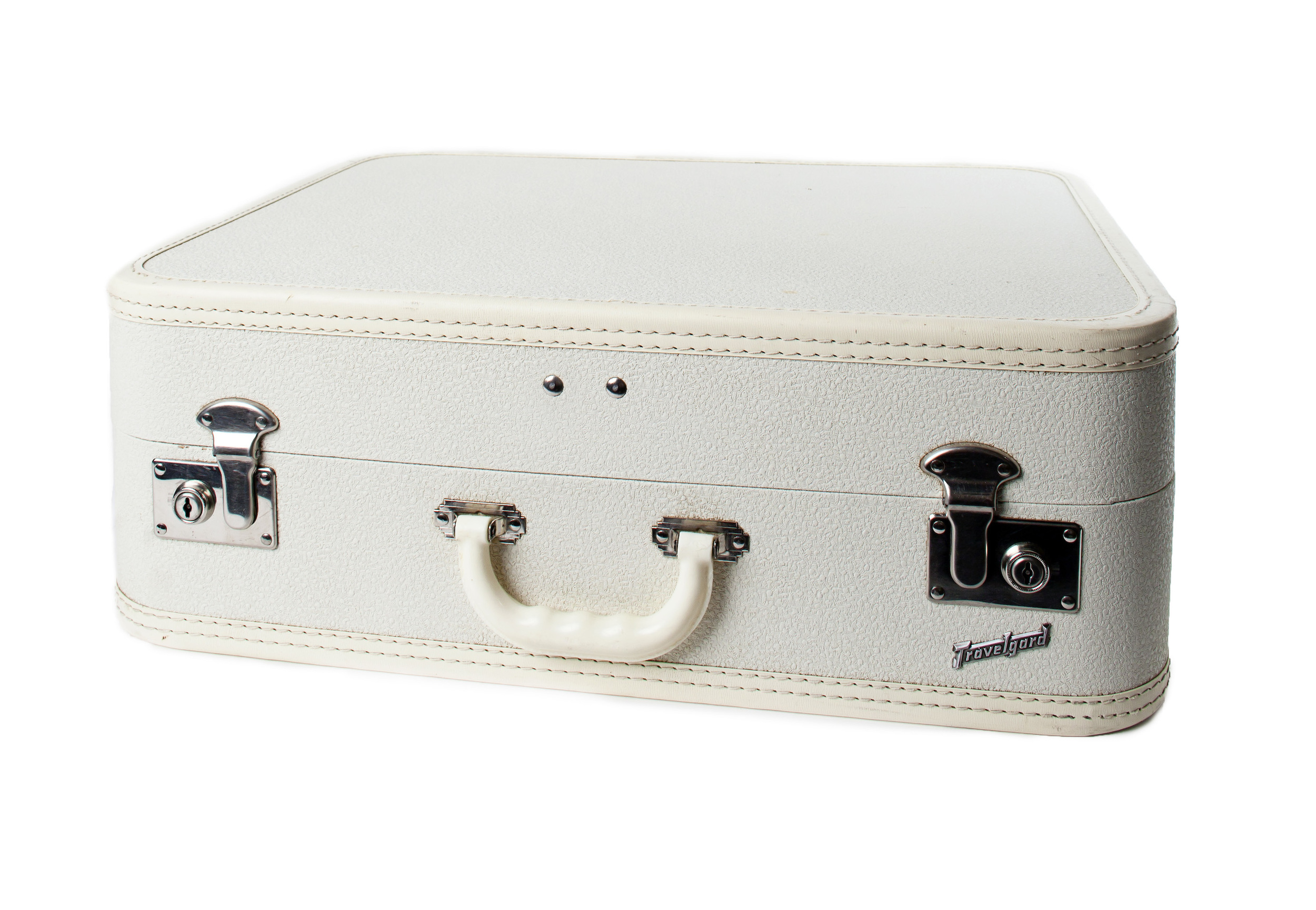Vintage- White Suitcase