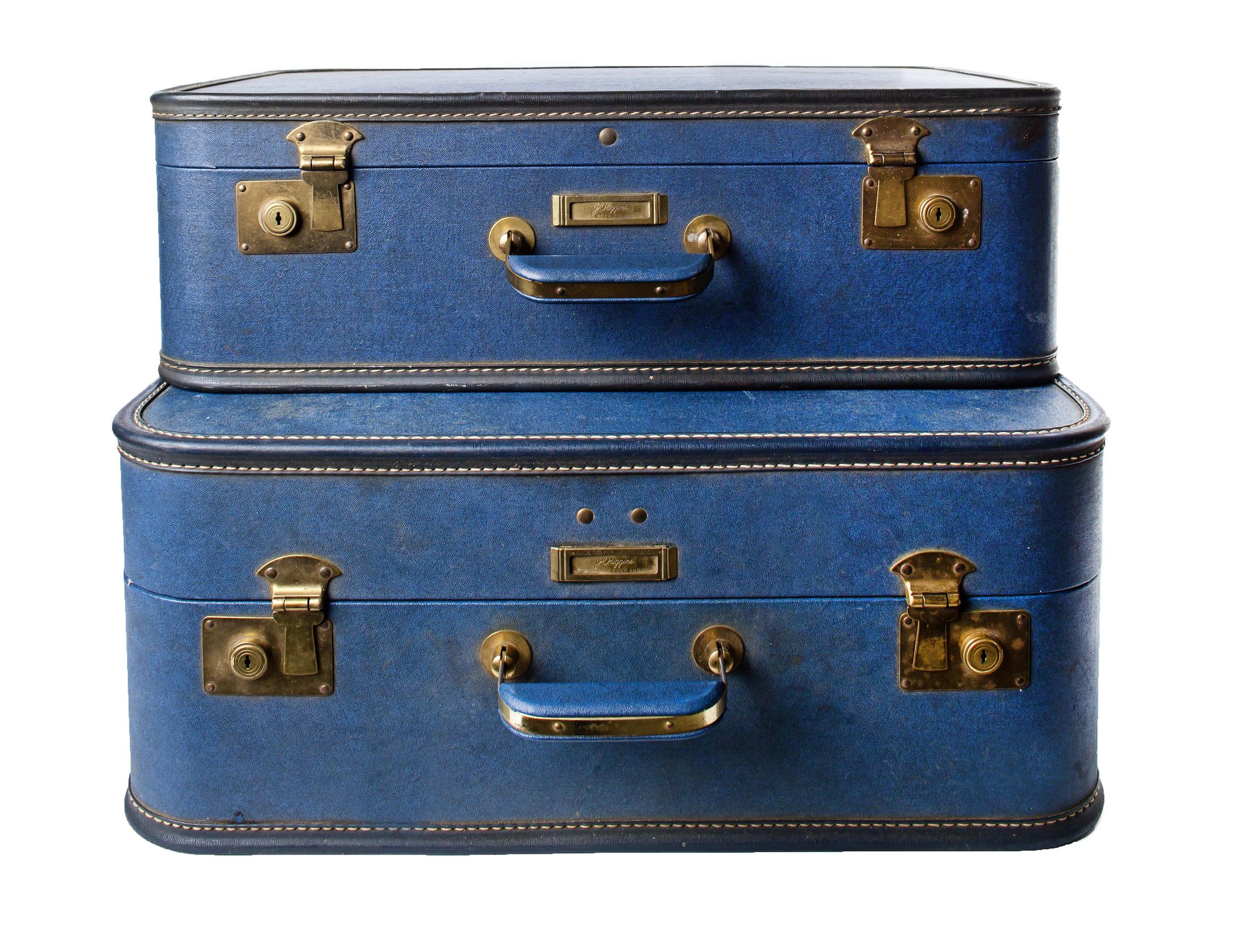 Vintage- Blue suitcases