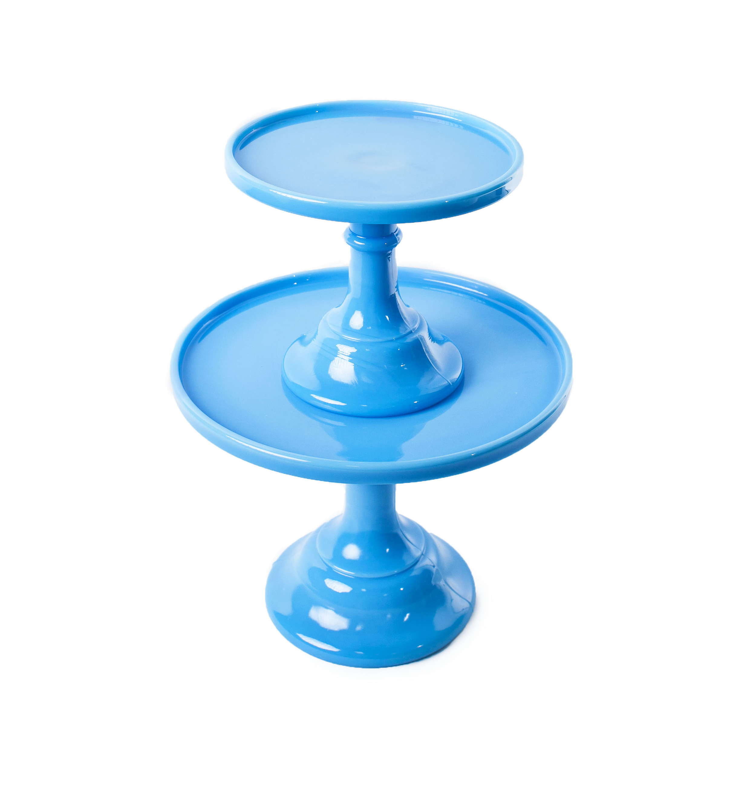 'Bonnie Blue' Cake stands (Shown Stacked)