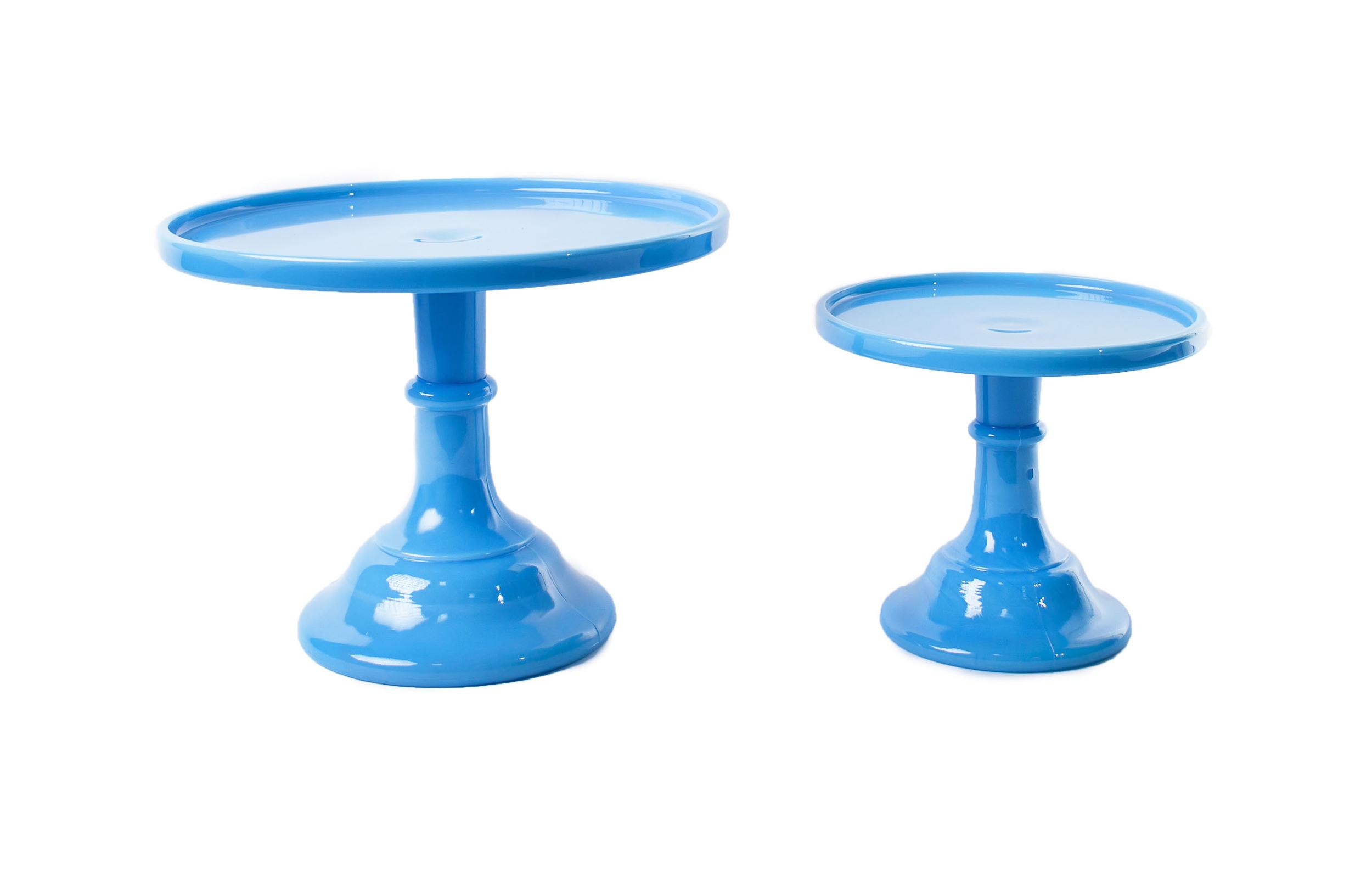 'Bonnie Blue' Glass Cake Stands