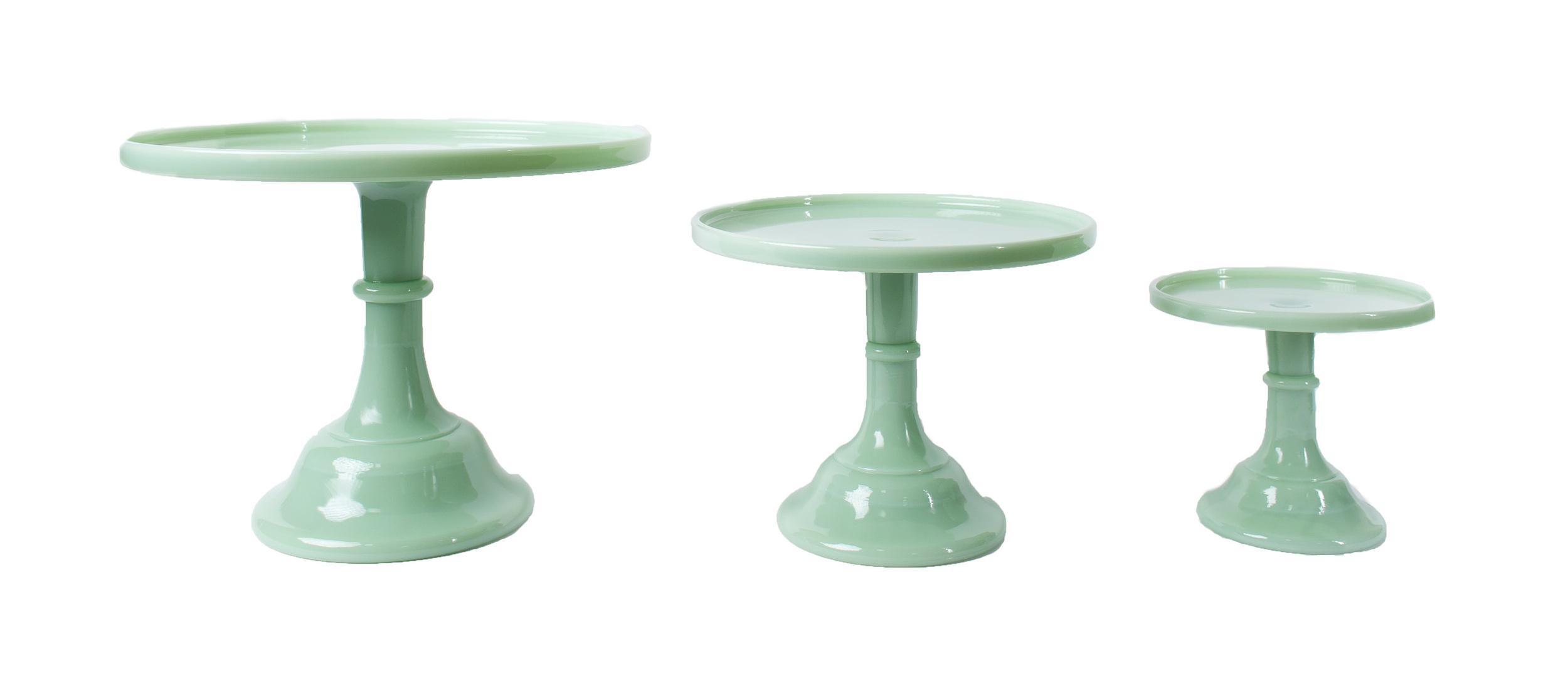 'Jade' Glass Cake Stands