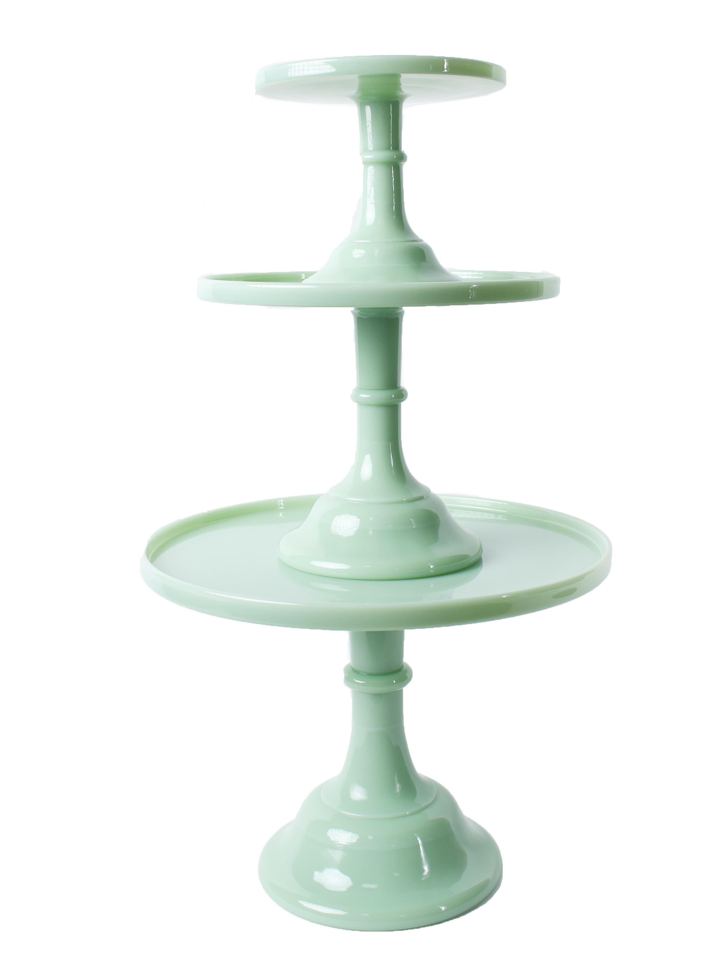 'Jade' Cake Stands (shown stacked)