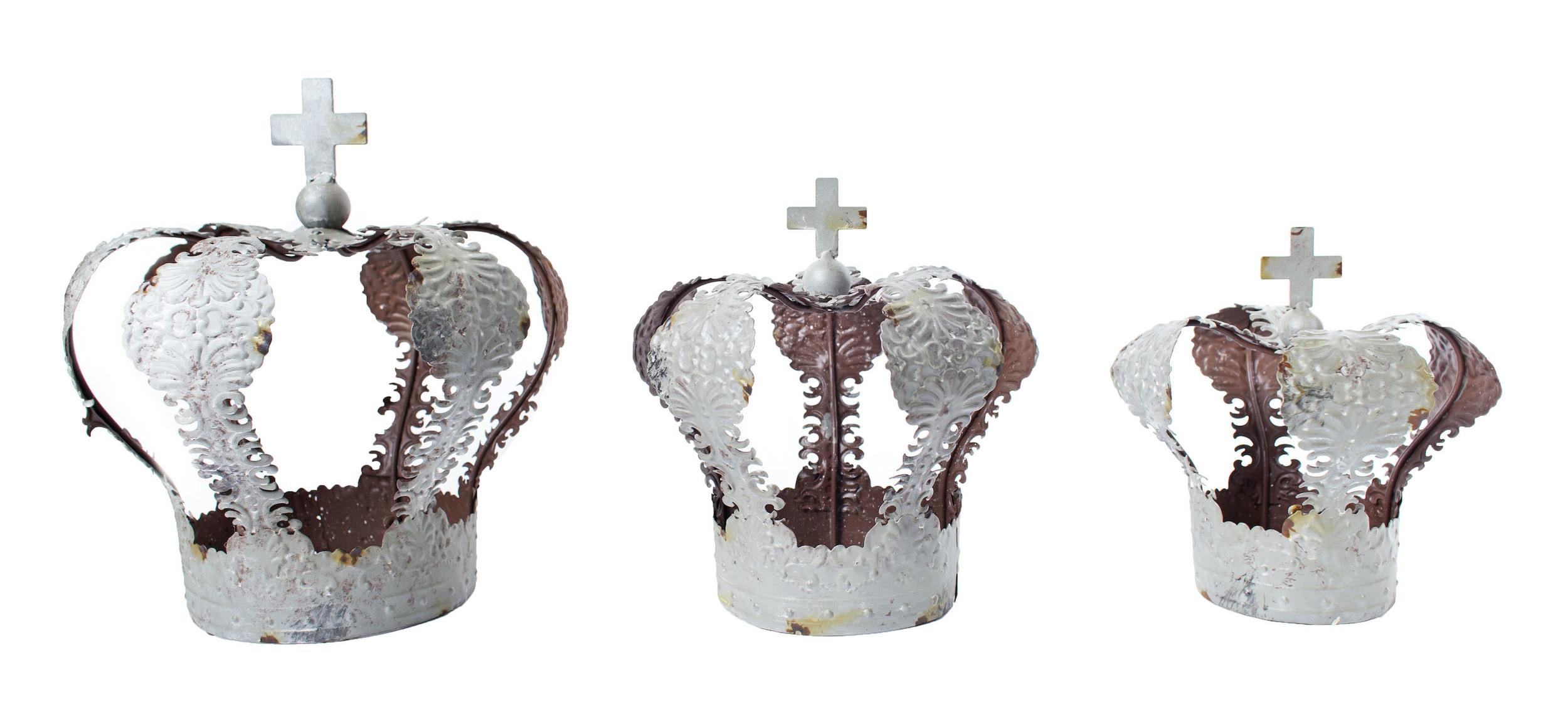 Distressed Metal Crowns